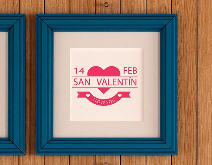 vinilo catorce de febrero día de San Valentín, decoración vinilos escaparates, paredes de tiendas, comercios, bares, restaurantes