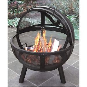 Ball-of-Fire-Bowl-Fire-Pit-Outdoor-Patio-Camping-Heat-Cooking-Steel-NEW