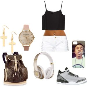 August alsina phone case, Louis Vuitton bookbag , air jordans and beats by dre