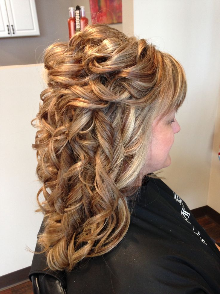 Hair Partial Updo Formal Wedding Prom Hairstyles Long