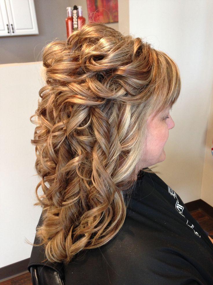hair partial updo formal wedding