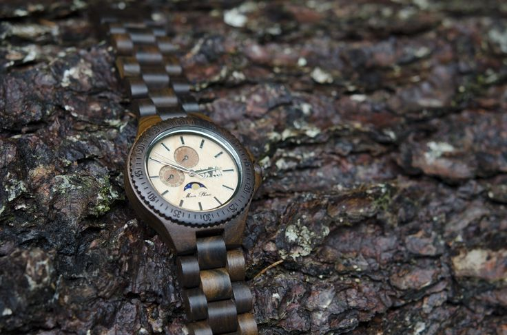 Eclisse WoodMoon Orologio in legno - Wooden Watches - Watch made of wood.
