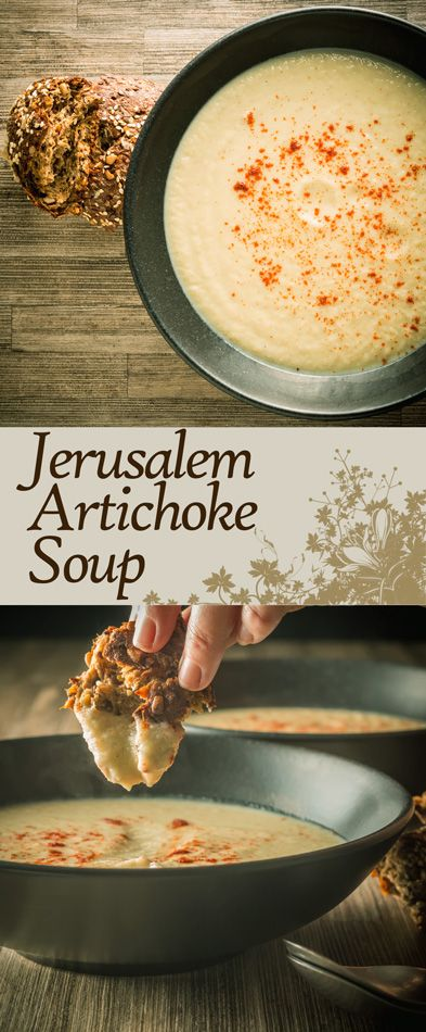 Jerusalem Artichoke Soup Recipe: Jerusalem artichoke soup or Sunchoke Soup is a wonderfully nutty creamy winter warmer from a wonderful but underused vegetable. #soup #sunchoke #jerusalemartichoke #vegetarian #soupoftheday #recipe #recipeoftheday