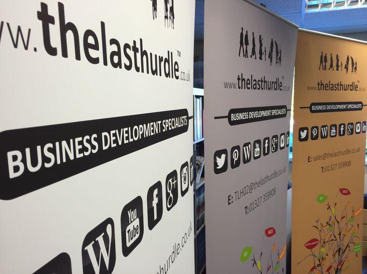 3 800mm Roller Banners for a Business Development client. All printed on a stoplight pvc in full colour.