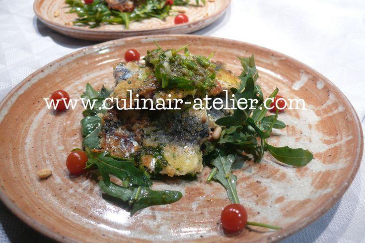 Gebakken sardines met salsa verde