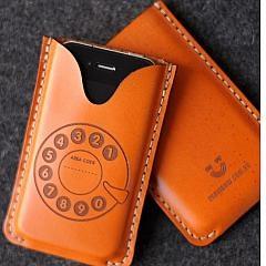Leather Designer iPhone case.  www.buyphonecases.com $68