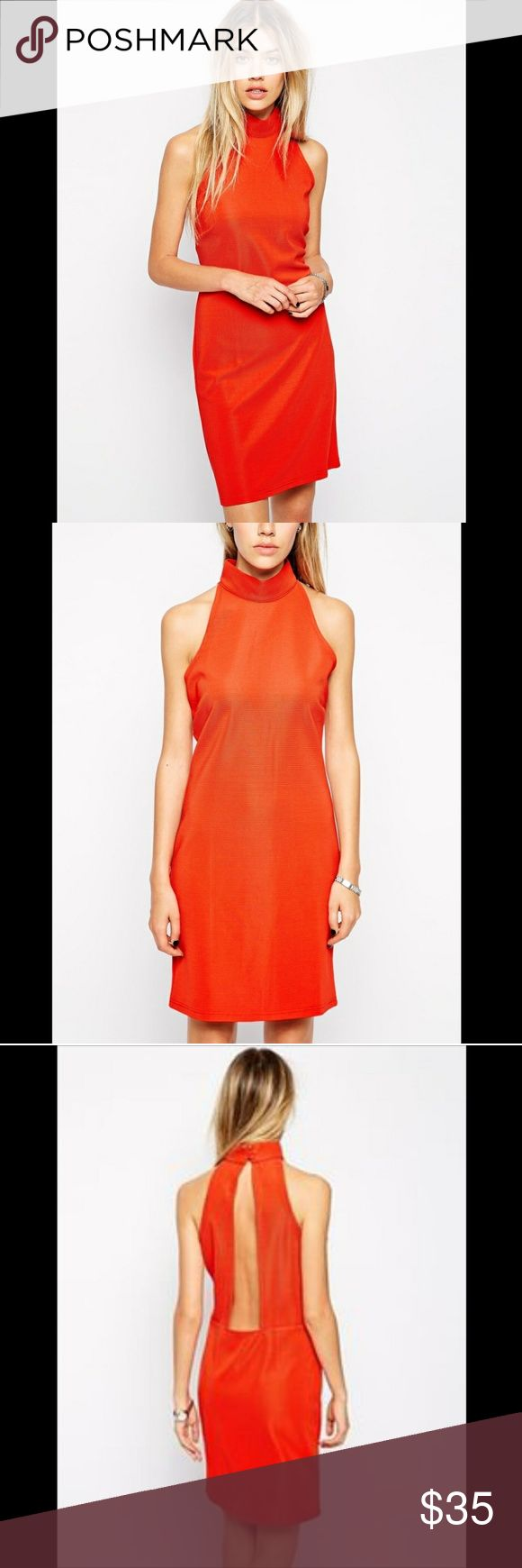ASOS UK Glamorous P High Neck Ribbed Bodycon Dress ASOS UK Glamorous Petite High-Neck Ribbed Bodycon Dress. SO HOT! SOLD OUT EVERYWHERE! A MAJOR HTF! SO ROMANTIC AND FEMININE CHIC! SMOKE FREE! LABELED ORANGE BUT ITS A RED ORANGE. A BEAUTIFUL COLOR FOR THIS SEASON!!! ASOS Petite Dresses