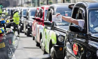 Another Taxi Strike Brings London to a Halt