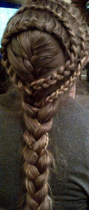 Lace braids and a french braid