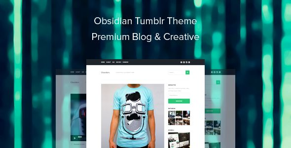Obsidian Tumblr Theme Premium Blog & Creative