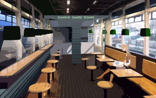 Nieuwe koffiezaak op Station Zaandijk Zaanse Schans