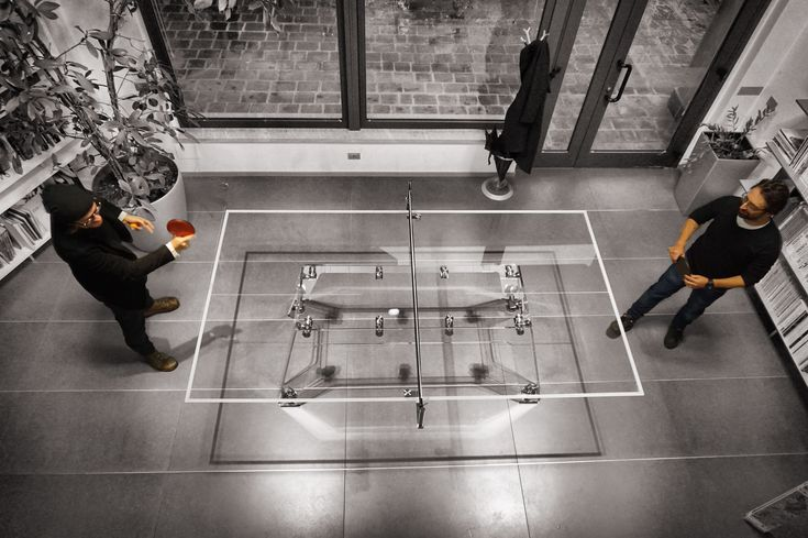 Lungolinea ping pong table by Impatia. Have fun playing on it, access the diffuse mode, remove the net kit and work on it!  A must have for your office, made in Italy!   #pingpong #madeInItaly #design #interiors #office #luxury #furniture #tennisTable
