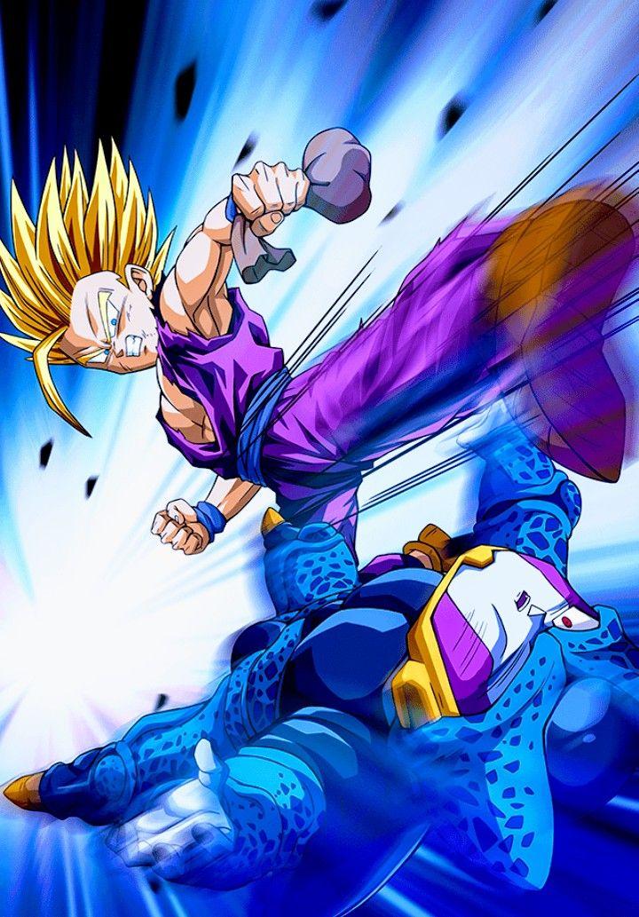 Gohan Ssj2 Vs Cell Jr Dragon Ball Z Raidenk23 Dragon Ball
