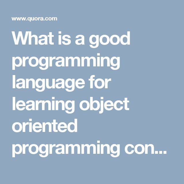 object oriented programming language pdf