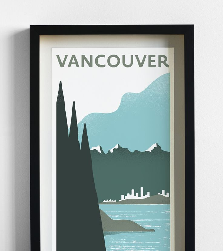 11 best travel prints images on pinterest travel posters for Vancouver t shirt printing
