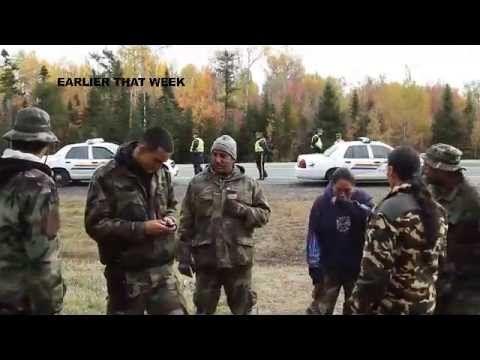 SHOWDOWN AT HIGHWAY 134 Mi'kmaq blockade of fracking equipment « subMedia