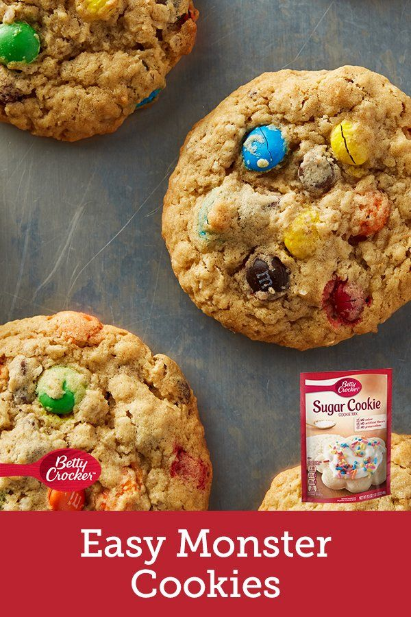 Easy Monster Cookies Recipe Monster Cookies Recipe Monster Cookies Betty Crocker Cookies