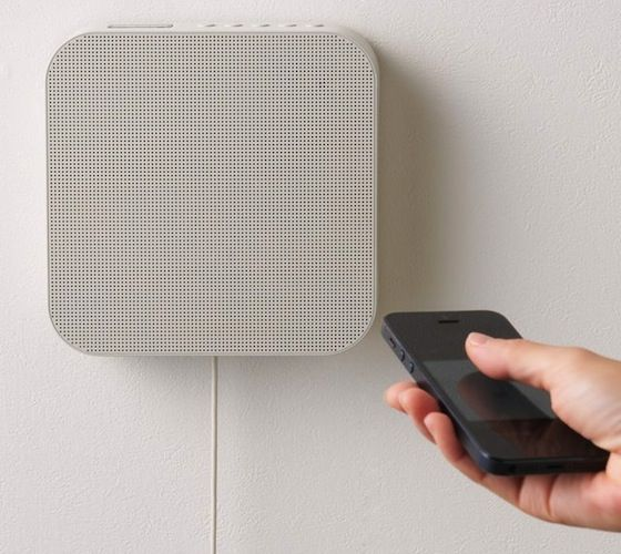 This wall mount #Bluetooth wall #speaker plays #music #wirelessly from Bluetooth-enabled devices such as your #smartphone and comes with a built-in #FM #radio.