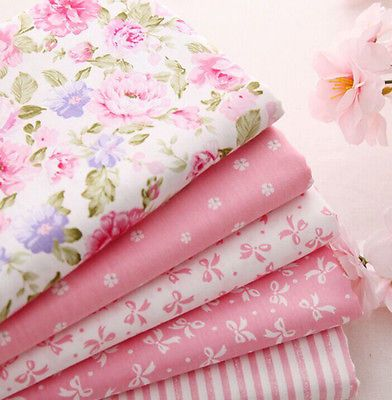New One PCS Cotton Fabric Pre-Cut Cotton cloth Fabric for Sewing Pink D3