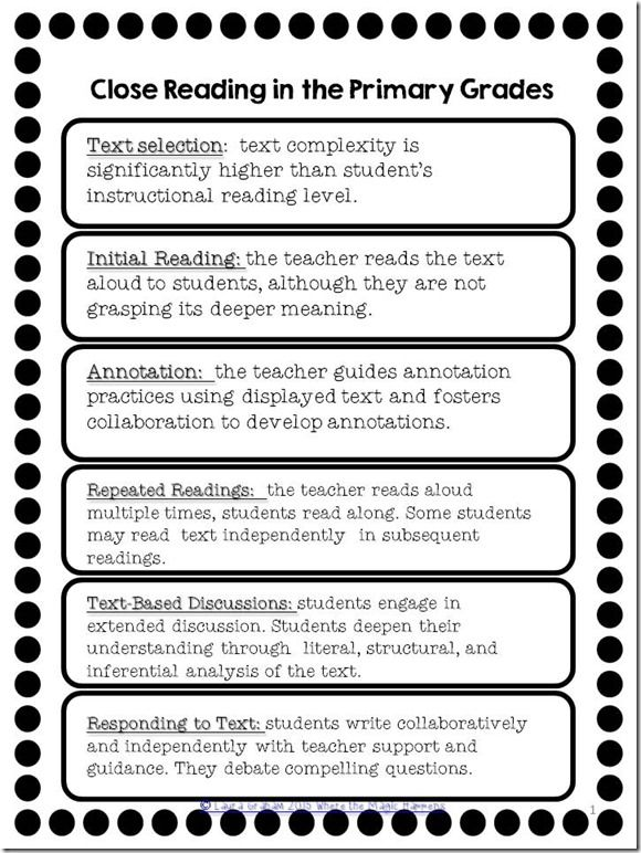What is close reading and why does it need to happen in your primary classroom?