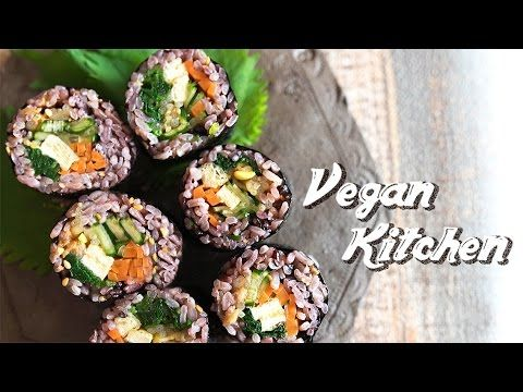 色んな野菜で作れる栄養満点!野菜たっぷりキンパ!!:How to make Kimbap | Vegan Kitchen with ayano ...