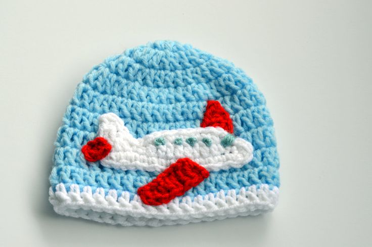 baby boy crochet airplane hat toddler boys airplane beanie knit plane hat newborn photo prop. Black Bedroom Furniture Sets. Home Design Ideas