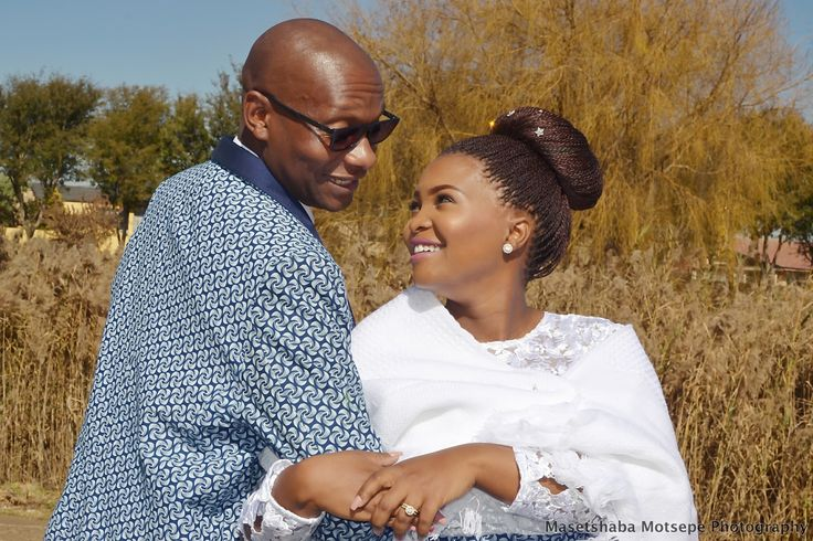Modern South African Tswana couple