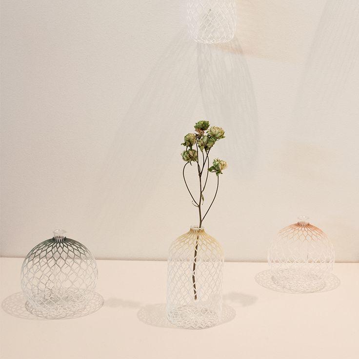 Tint flower vases by Shinya Yoshida Design at SaloneSatellite