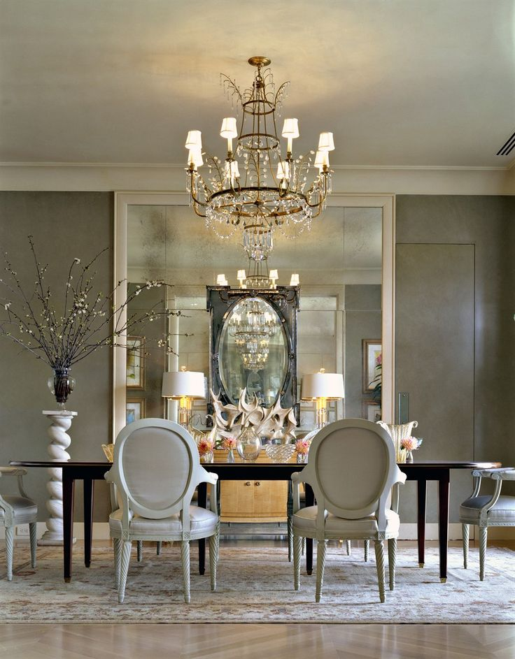 Magnificent Modern Interior Design Dining Room dining room chandeliers contemporary magnificent decor inspiration dining room modern chandeliers with goodly dining a room recreating how best chandeliers Silver White Dining Room Elegant Exceptional Design Gray Walls Mirrors Walls Chandelier Black Accents Decorating Home Decor Ideas Renovating Living Rooms
