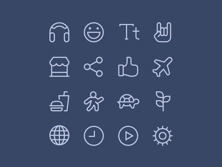 Moji App Iconography by Zach Roszczewski