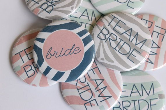 10 total Bachelorette Party Buttons that are the perfect finishing touch for your party! Measure 2.25 in diameter.  Heres what you get:  9
