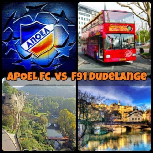 Συνδιάστε την υποστήριξη της ομάδας μας στο Λουξεμβούργο με ένα σύντομο τουριστικό ταξιδάκι και ζήστε μαγικές στιγμές στο Λουξεμβούργο παρέα με τον ΑΠΟΕΛ. Το παιχνίδι θα διεξαχθεί την 19η Ιουλίου η ώρα 19:00