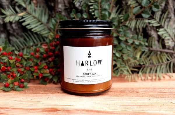 Bohemian Candle by Harlow Skin Co, A Canadian Product on Chill Bay General www.chillbay.ca
