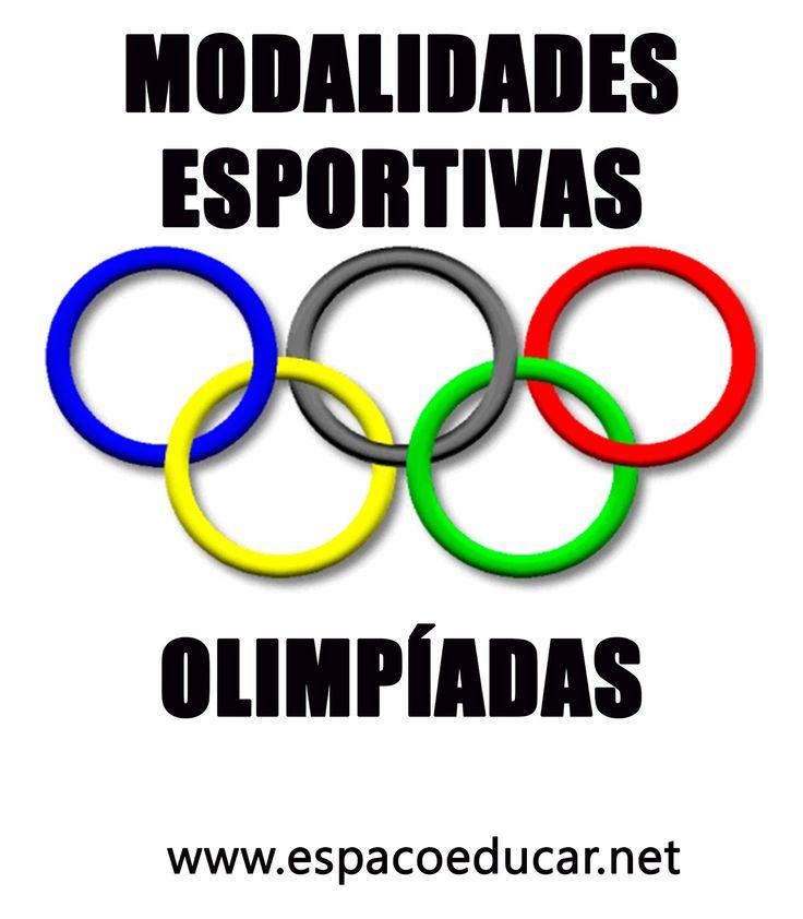 ESPECIAL MODALIDADES ESPORTIVAS DAS OLIMPÍADAS PARA COLORIR, PINTAR, IMPRIMIR! - ESPAÇO EDUCAR