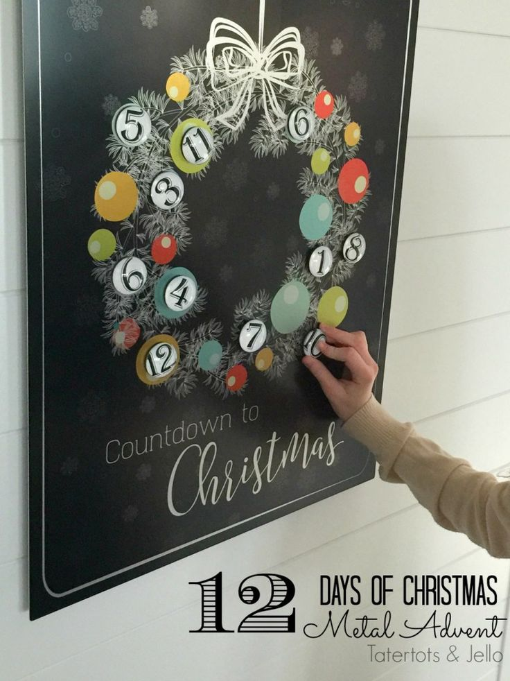 12 Days of Christmas Metal Advent Calendar! such a great way to countdown to Christmas or doing Random Acts of Kindness!