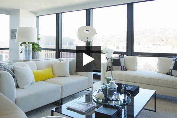 Voyez cet appartement élégant situé dans le complexe immobilier de Mies van der Rohe à Montréal.