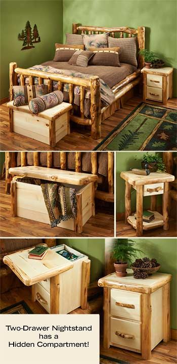 Natural Log Corral Bedroom Furniture: Wild Wings