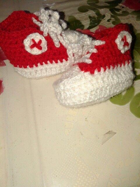 Zapatillas bebé al crochet river