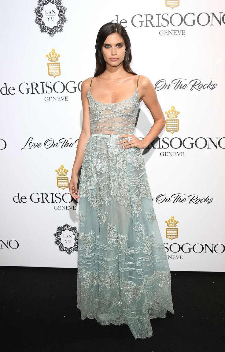Sara Sampaio in ELIE SAAB Haute Couture at the De Grisogono 'Love On The Rocks' party during the 70th annual Cannes Film Festival.