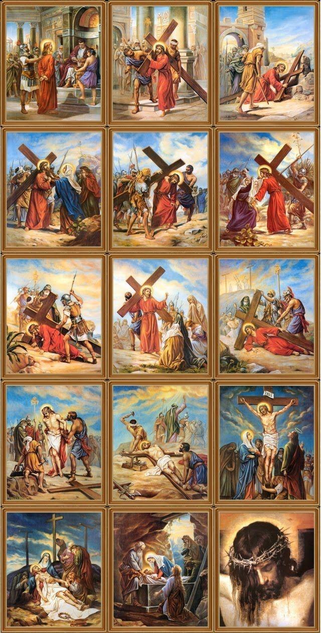 Viver a Quaresma em Agrupamento: Estações da Via-sacra   Via sacra estações, Imagens de jesus, Ressurreição de jesus