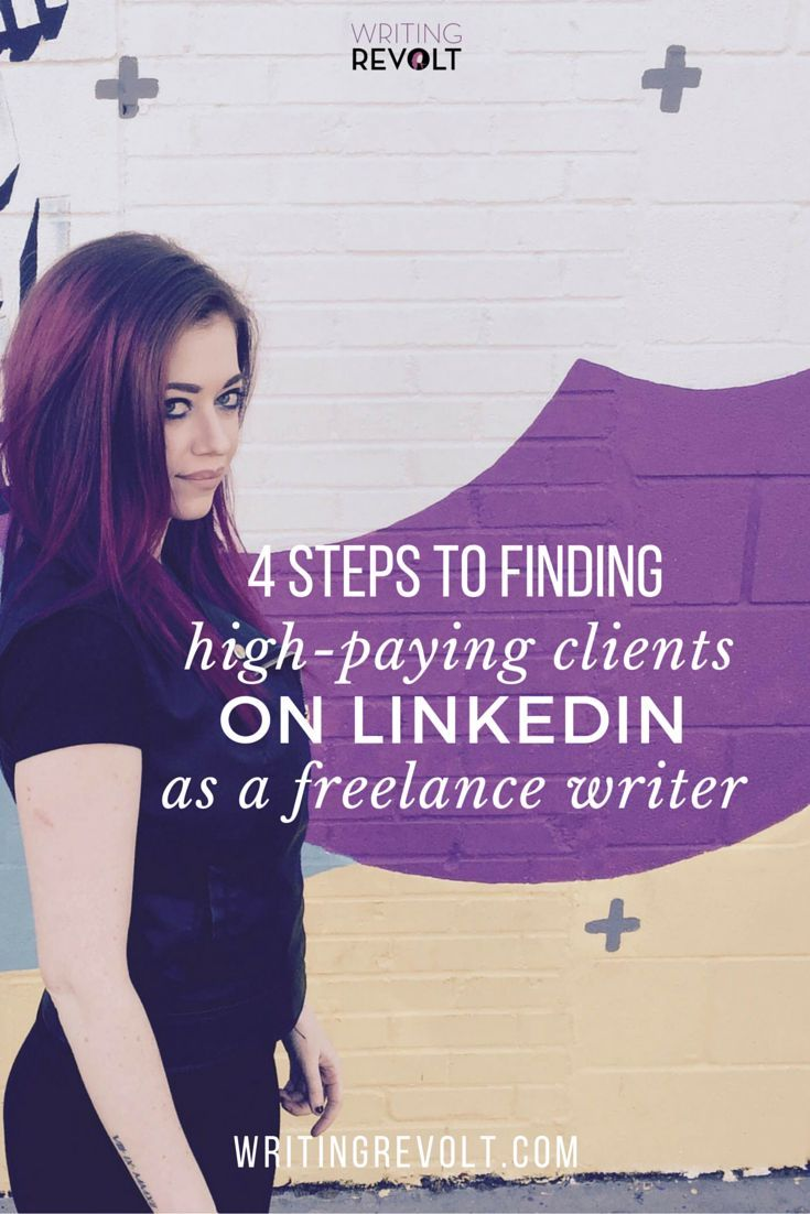 Need more freelance writing clients fast? This post will walk you through EXACTLY how to find freelance writing clients using LinkedIn. I used these exact methods to make money writing online fast ($5K/mo within 4 months!). Read now to start learning and start building a profitable freelance writing business using LinkedIn. :) https://www.writingrevolt.com/linkedin-for-freelance-writers/