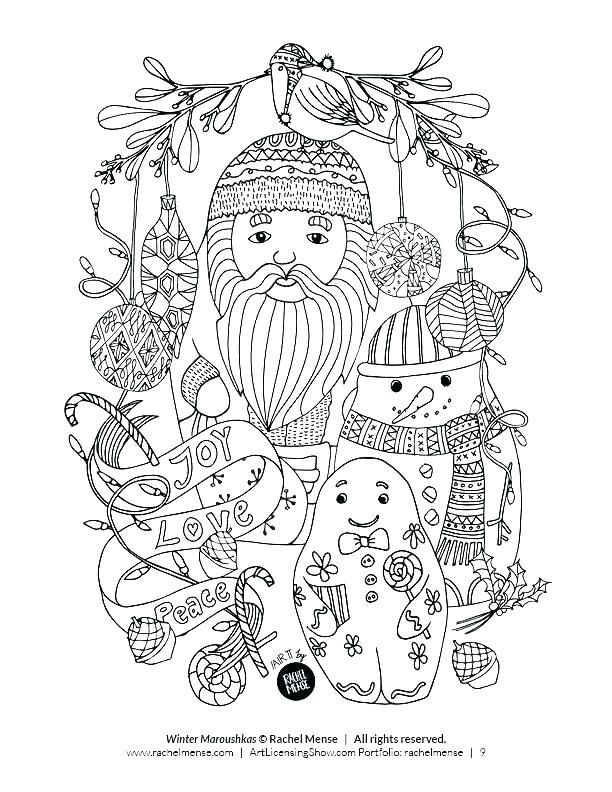 One Horse Open Sleigh Coloring Page Stock Winter Holiday Coloring