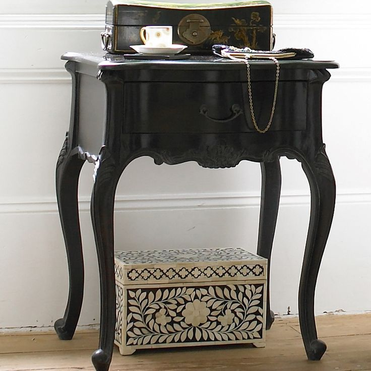 Sassy Boo Black Bedside Table  |  Bedside Tables  |  Tables  |  French Bedroom Company