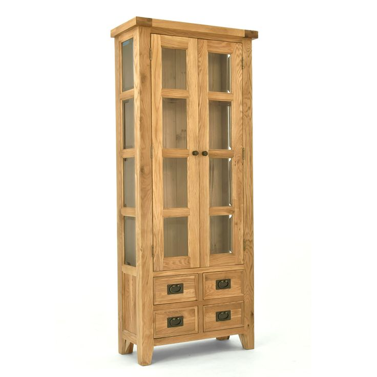 Elegance Oak Small Display Cabinet | ACHICA