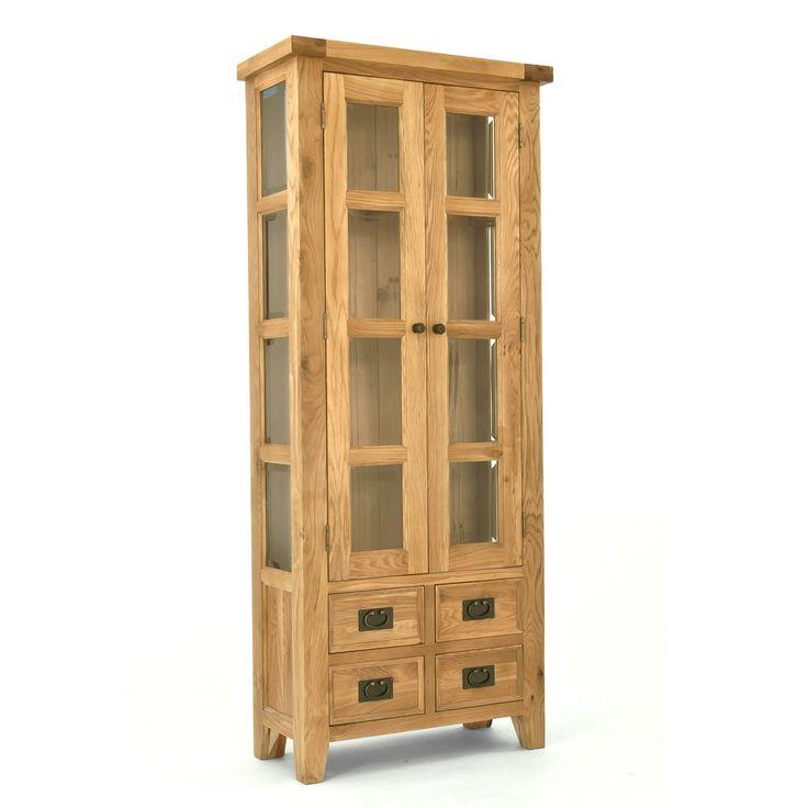 Elegance Oak Small Display Cabinet   ACHICA