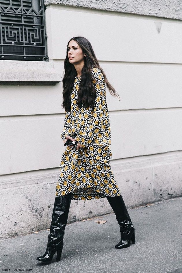 Time for Fashion » Stylish Combinations: Midi Dress + High Boots