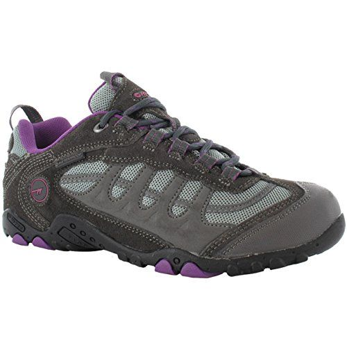 HITEC PENRITH LOW WP WomensLadies Waterproof Shoes 8 US CharcoalPurple >>>  This is an