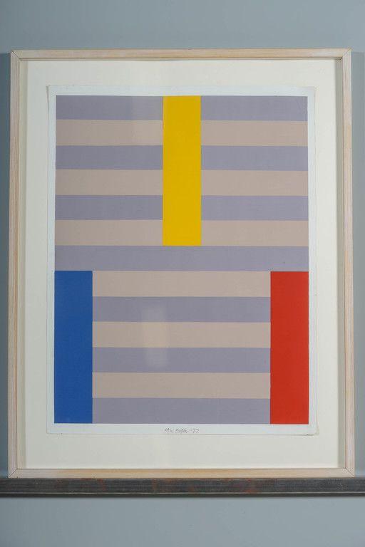 Paul Osipow, 1977, akryyli paperille, 69x52 cm - Huutokauppa Helander 09/2015