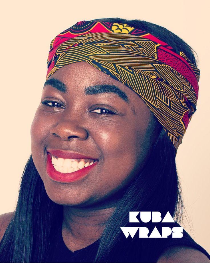 Our beautifully authentic 'Serwaa Bonsu' head wrap available at kubauk.com