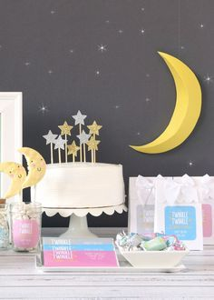 Twinkle twinkle little star... don't you know how loved you are! Welcome your little star with a super cute twinkle twinkle themed party! Shop the collection of star favors, decorations and supplies.